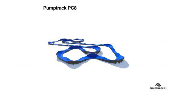 Pumptrack modulaire PC8